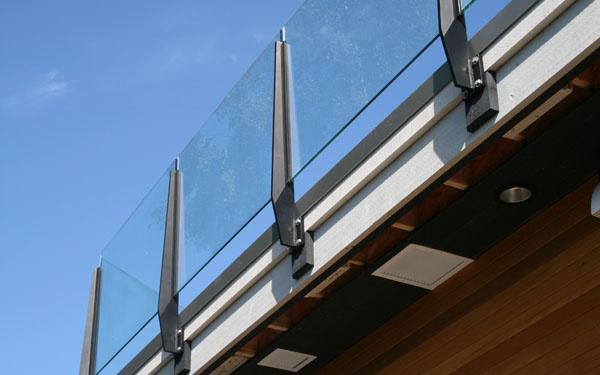 Excalabor glass aluminum for Exterior glass railing